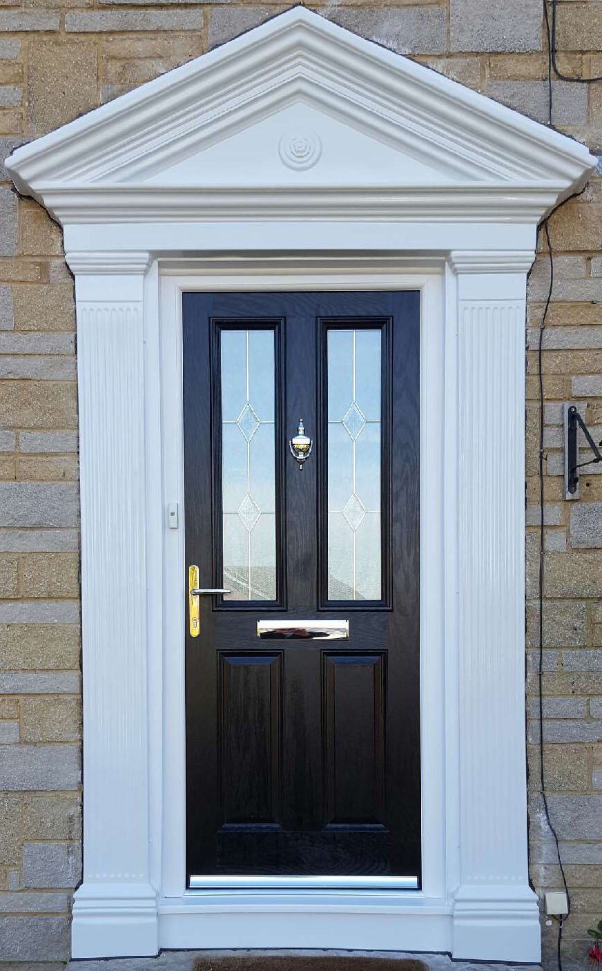 Black Seville 2 composite door with Classic glass